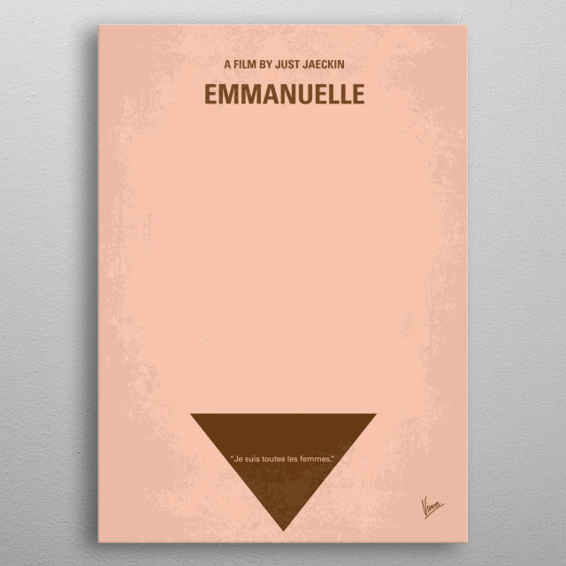 No160 My Emmanuelle minimal movie poster  Emmanuelle is a beautiful young model and lives in Bangkok together with her husband Jean, who's se... metal poster