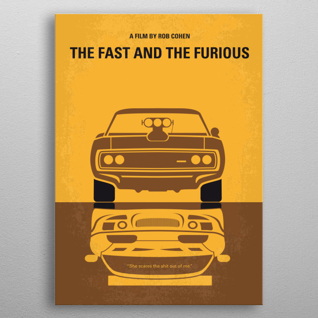 No207 My The Fast and the Furious minimal movie metal poster