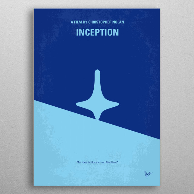 No240 My Inception minimal movie poster  A skilled extractor is offered a chance to regain his old life as payment for a task considered to b... metal poster