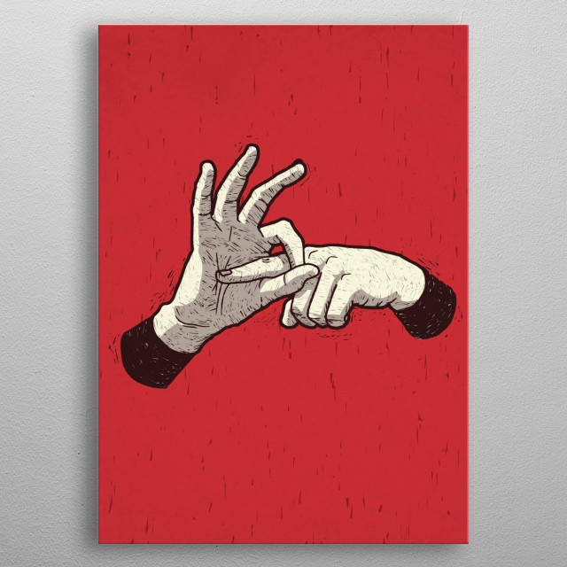 Finger Hole metal poster