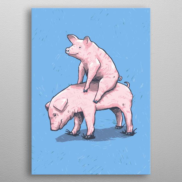Piggy Back Ride metal poster