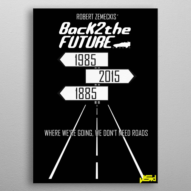 Back to the Future metal poster