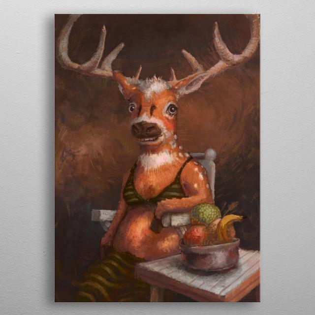 Deer metal poster