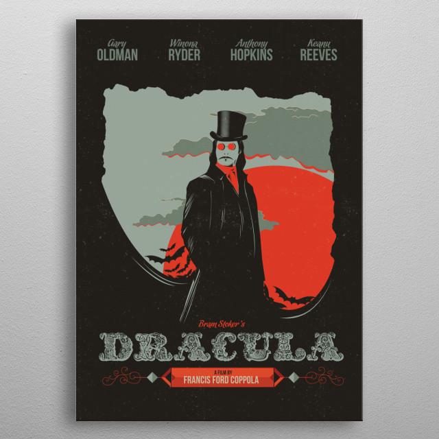 Dracula metal poster