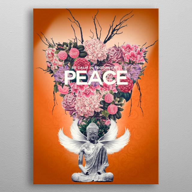 PEACE metal poster