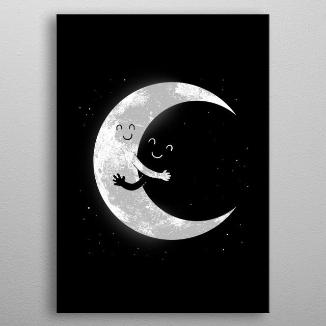 Moon hug metal poster