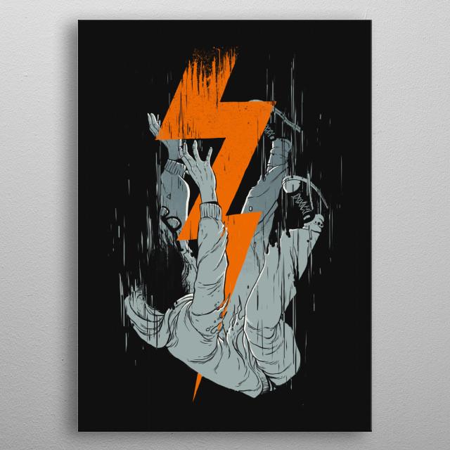 Fall effect metal poster