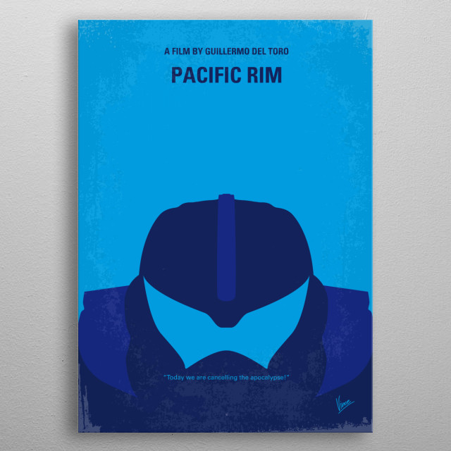No306 My Pacific Rim minimal movie poster  As a war between humankind and monstrous sea creatures wages on, a former pilot and a trainee are ... metal poster
