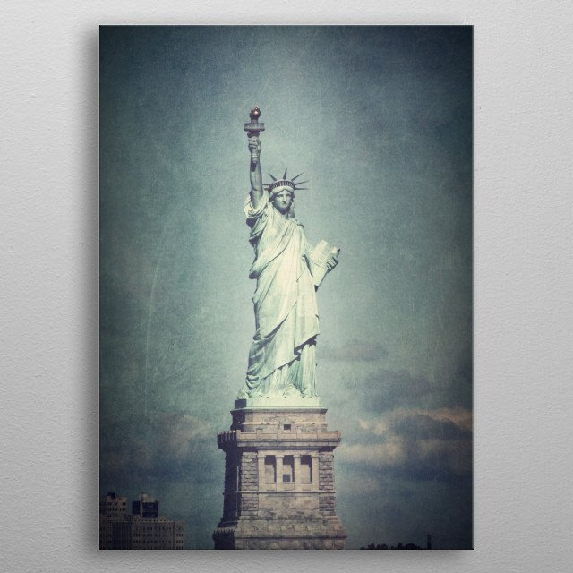 LADY LIBERTY metal poster