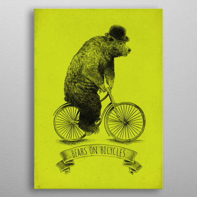 High-quality metal print from amazing Bicycles collection will bring unique style to your space and will show off your personality. metal poster