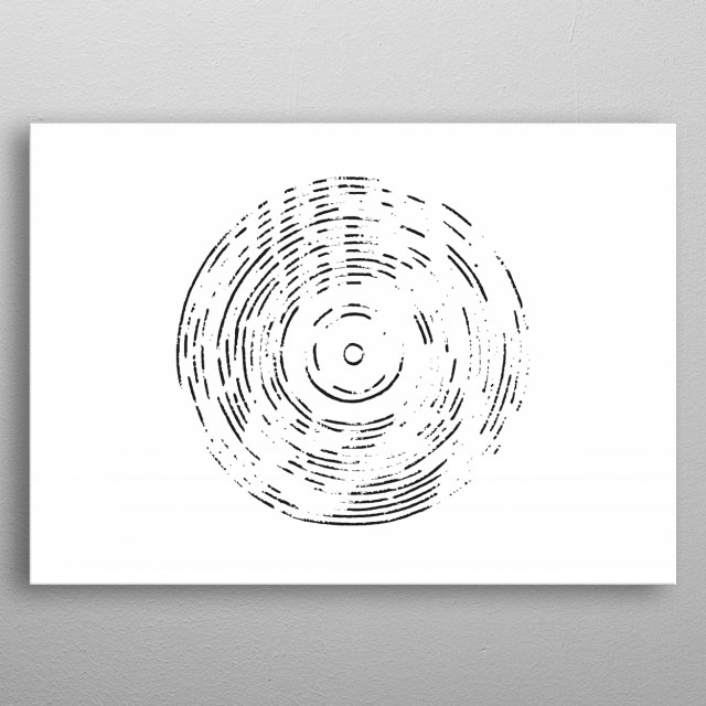 Record on White metal poster