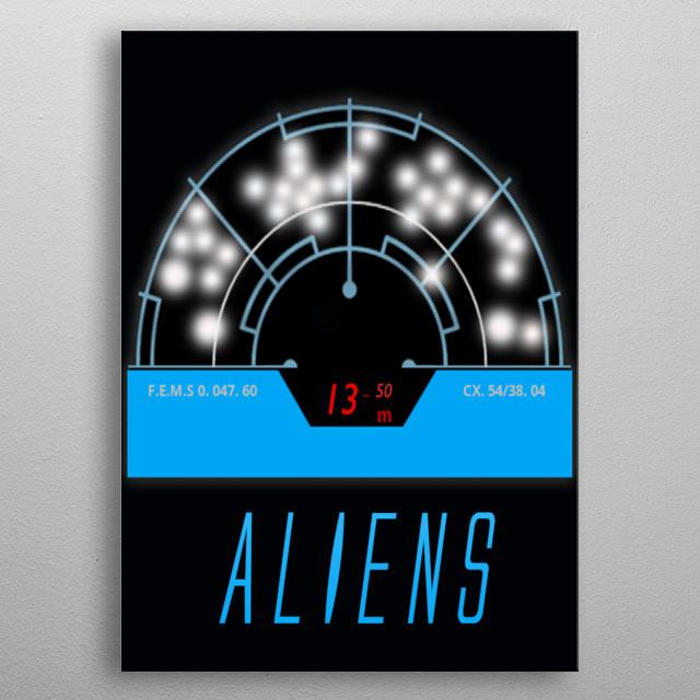 Aliens metal poster