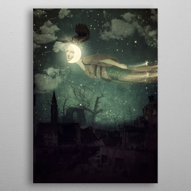 The Owl That Stole The Moon metal poster