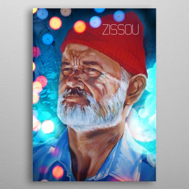 Le Zissou metal poster