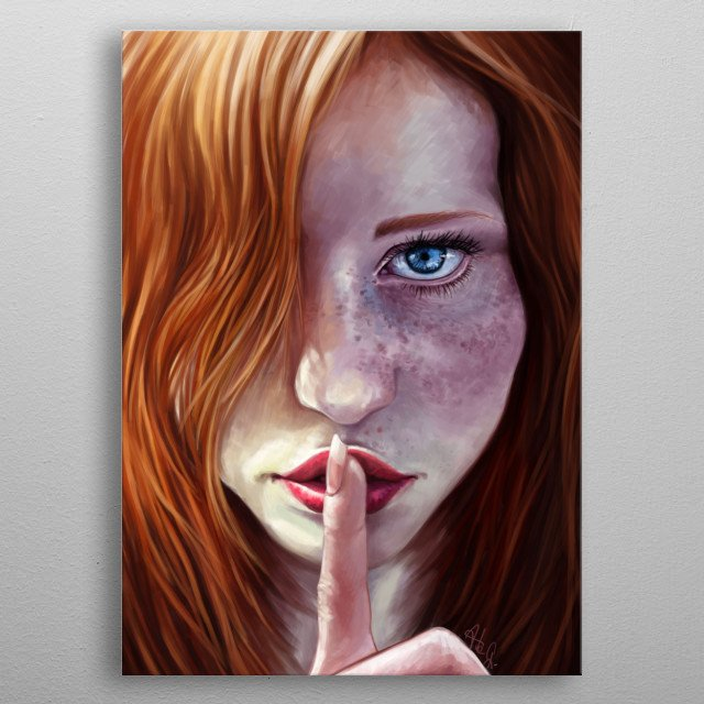 Shhh metal poster