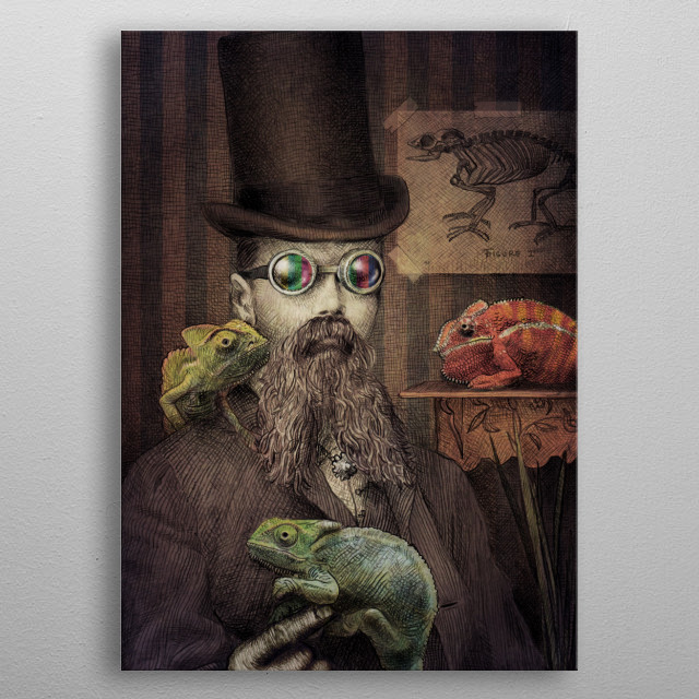 The Chameleon Collector metal poster
