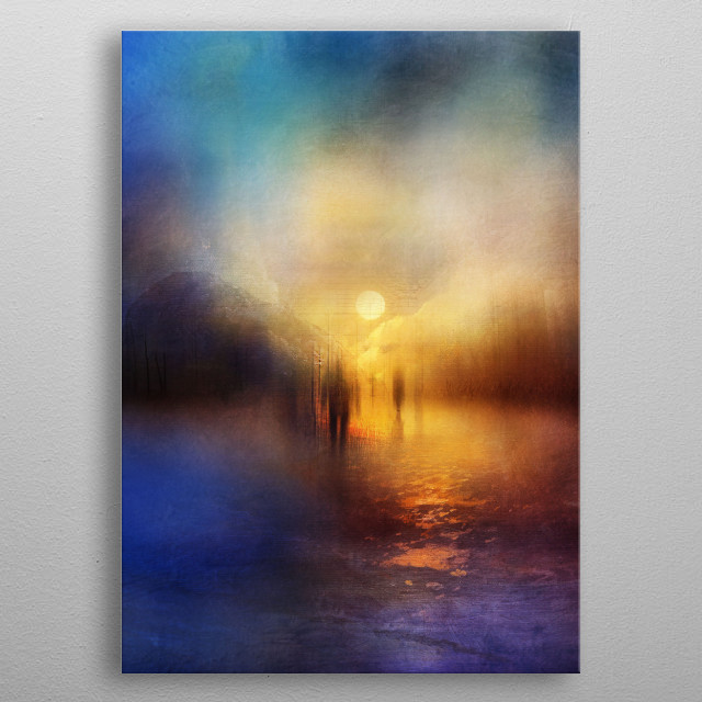 Light Echoes metal poster