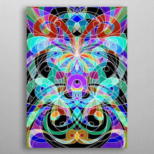 Doodle Ethnic Style G11 metal poster