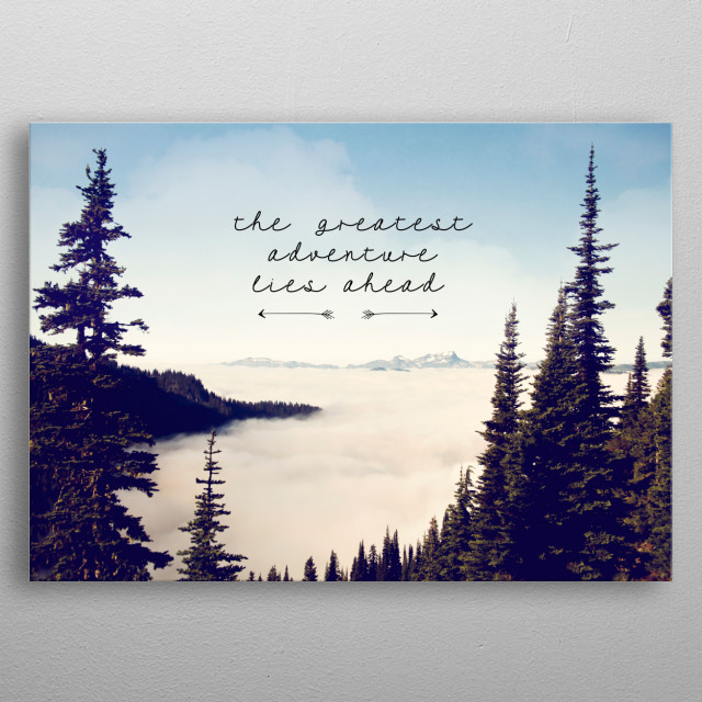 the greatest adventure-mountains metal poster