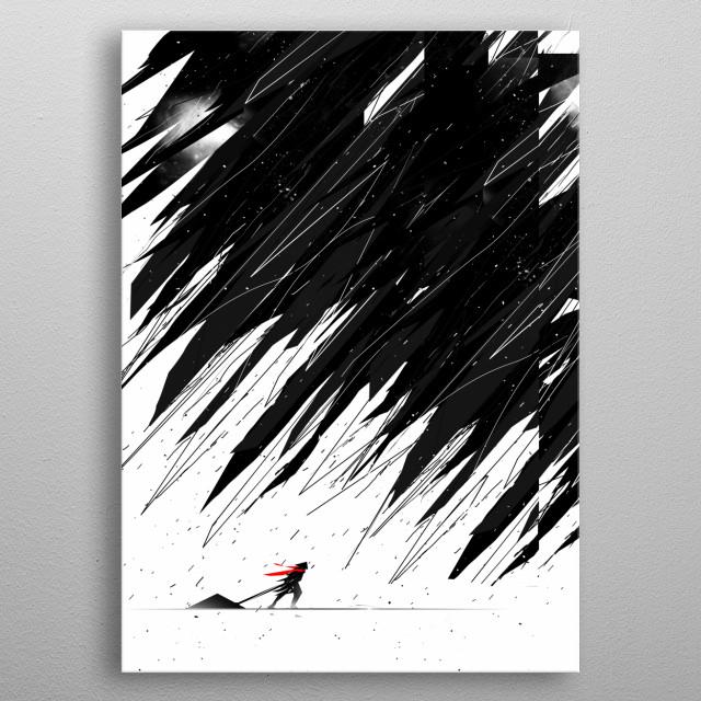 Geometric Storm metal poster