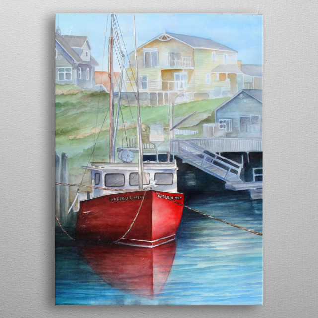 Peggy's Cove metal poster