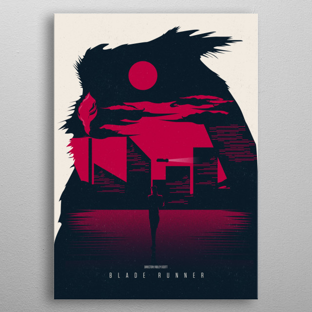 /// Blade Runner ///  Stars: Harrison Ford, Rutger Hauer, Sean Young  A blade runner must pursue and try to terminate four replicants who sto... metal poster