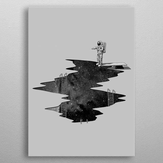 Space Diving metal poster