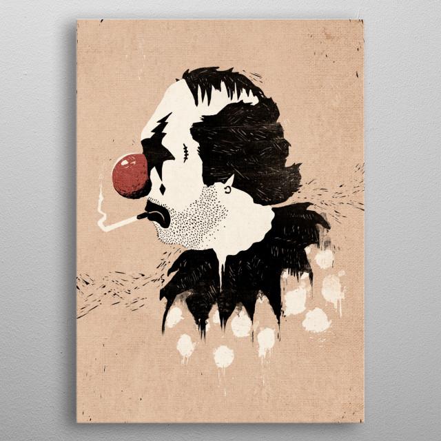 Clown Hates Carnival - Vintage Style Alternate Colors metal poster