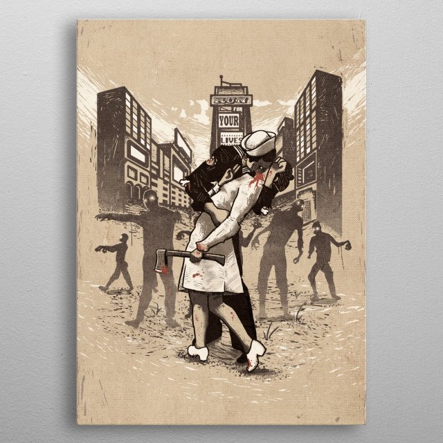 Z-Day - Vintage Style Alternate Colors metal poster