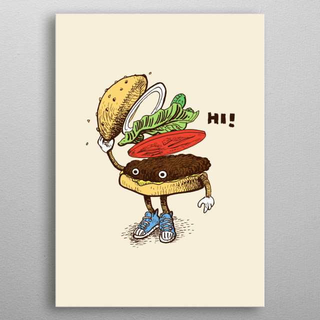 Burger Greeting metal poster
