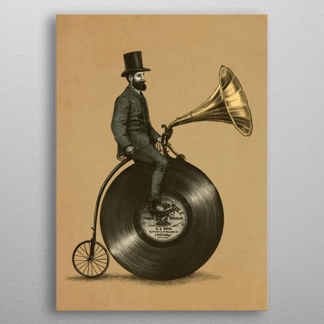 Music Man sepia option metal poster