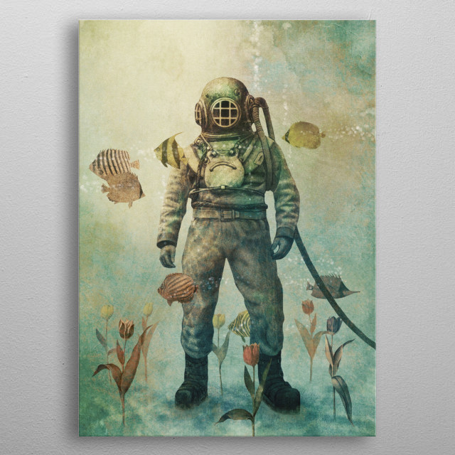 Deep Sea Garden metal poster