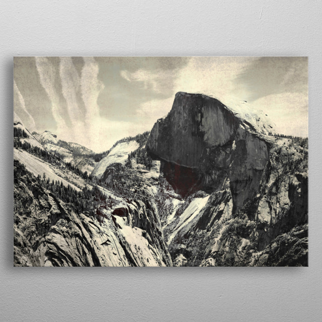 Half Dome — Shot while hiking up Yosemite Falls. Photographed by Brandon Dover. metal poster