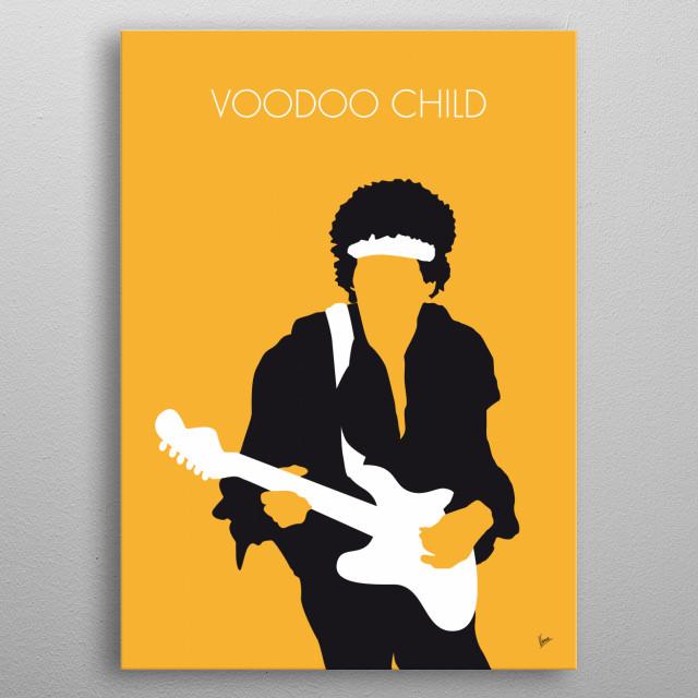 No014 MY Jimi Hendrix Minimal Music poster metal poster