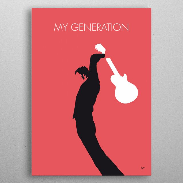 No002 MY THE WHO Minimal Music poster metal poster