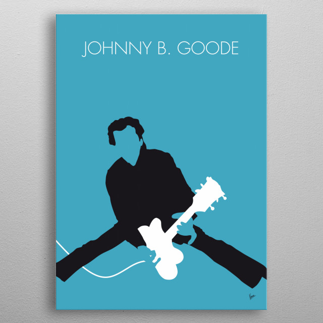 No015 MY Chuck Berry Minimal Music poster metal poster