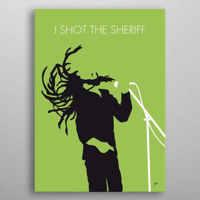 No016 MY Bob Marley Minimal Music poster metal poster