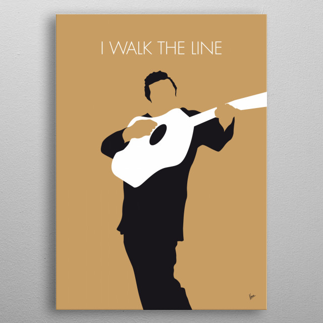 No010 MY Johnny Cash Minimal Music poster metal poster