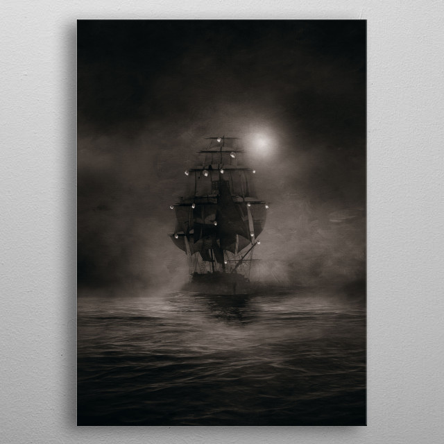 The lights (Duotone) metal poster