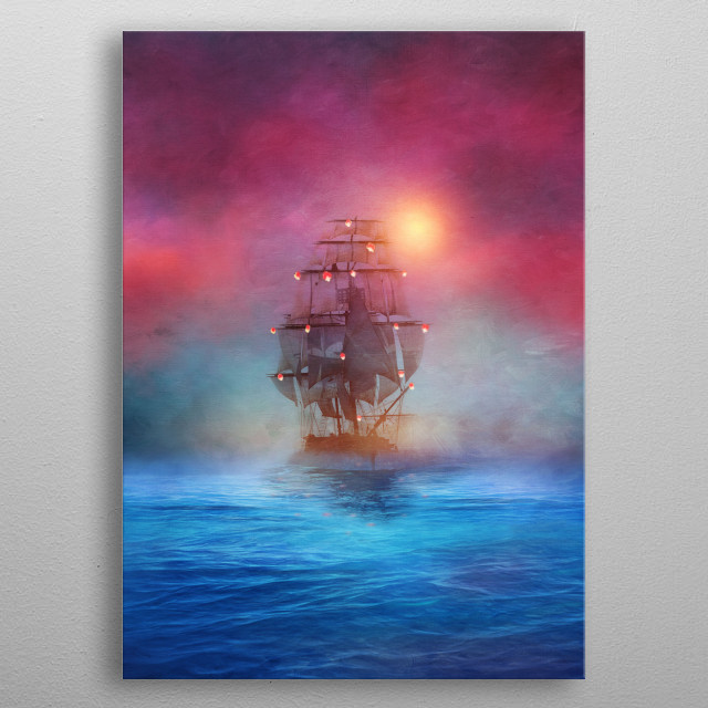 High-quality metal print from amazing Ocean Vibes collection will bring unique style to your space and will show off your personality. metal poster