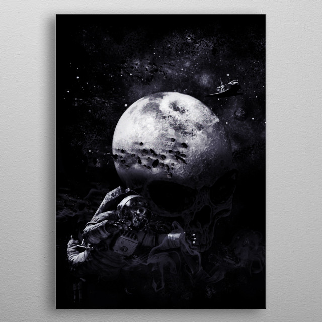 The Dark of the Moon metal poster