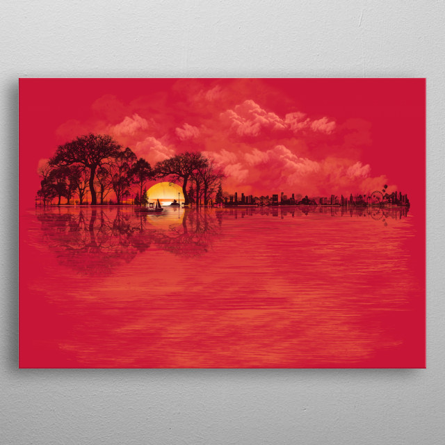 Musical Sunset metal poster