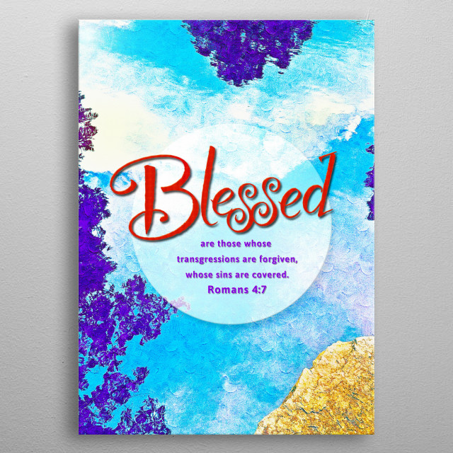 Blessed! metal poster