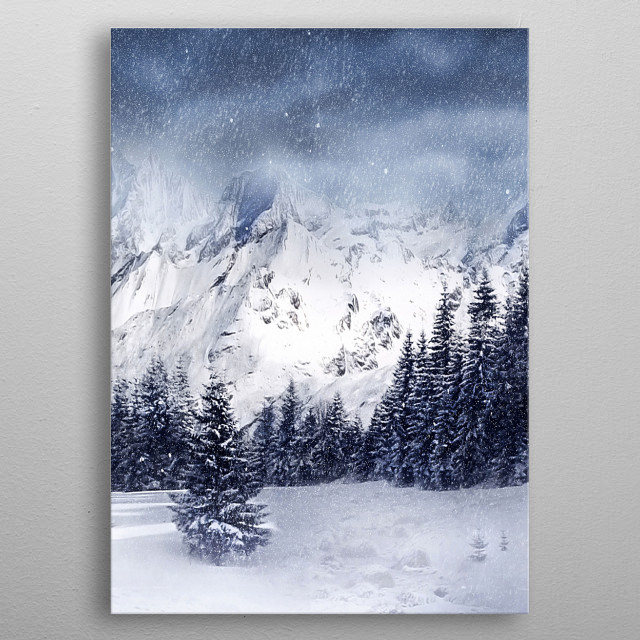 Winter metal poster