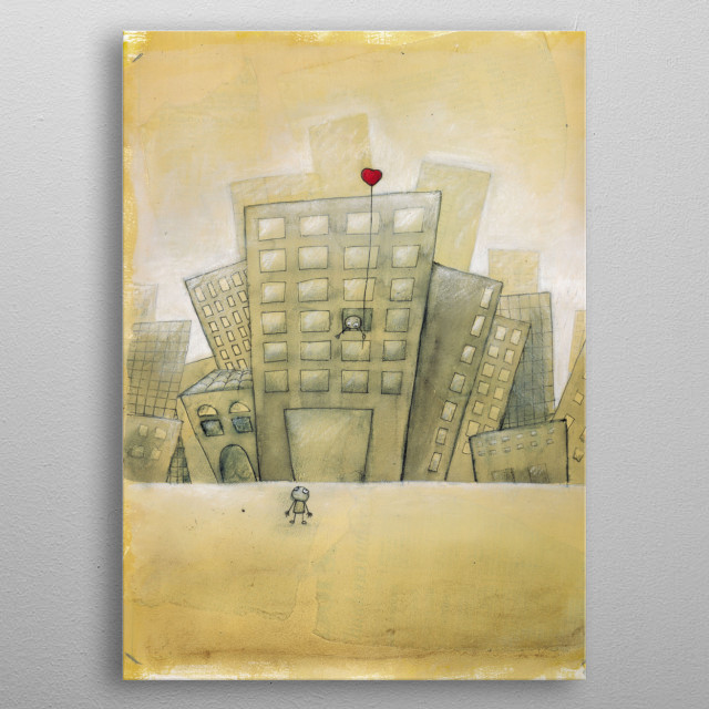 my heart fly metal poster