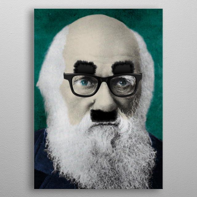 Comedy Darwin metal poster