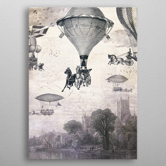 Carrilloons Over The City metal poster
