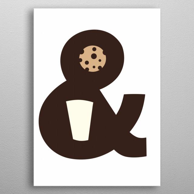 Milk and cookies metal poster