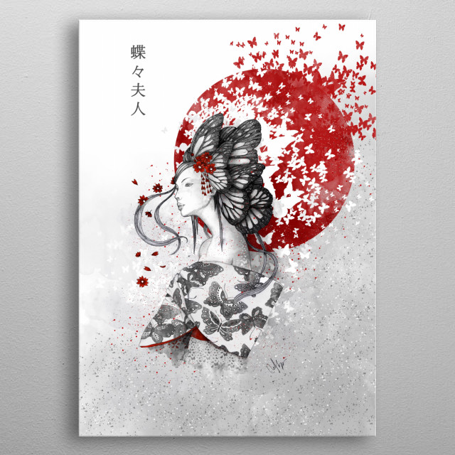 Madame Butterfly metal poster