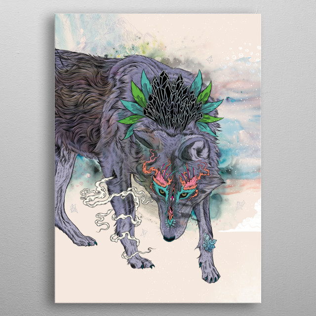 Journeying Spirit metal poster